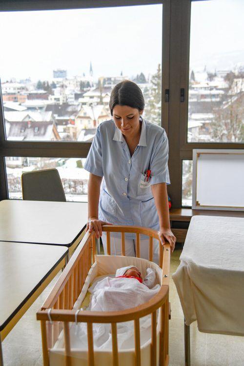 In Dornbirn freut man sich über eine hohe Zahl an Geburten.VN/Lerch