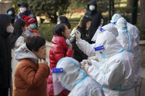 In Shijiazhuang in der Provinz Hebei wurden Massentests angeordnet. Ap