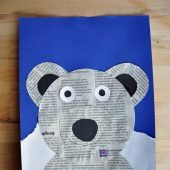"""<p class=""""bodytext"""">Jetzt klebt ihr den Kopf auf und fertig ist das Upcycling-Eisbären-Bild.</p>"""