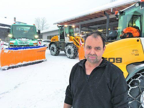 Josef Bereuter (61) ist für größere Schneemassen gerüstet.vn/mig