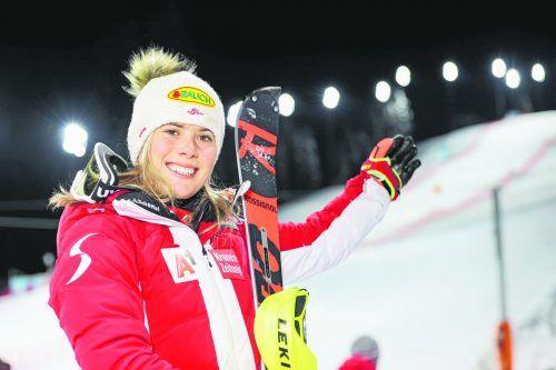 Katharina Liensberger gefällt der Slalomhang in Flachau. Die Göfnerin landete in den vergangenen Jahren mit den Plätzen acht, drei und fünf immer im Spitzenfeld.gepa