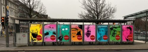 Kommen der Papst, Bill Gates und Angela Merkel? Werbeflächen weichen einmal lustvoller Kunst. sandner