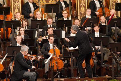 Konzertmeister Rainer Honeck und Dirigent Riccardo Muti.