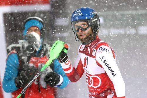 Marco Schwarz hat in Chamonix zwei Chancen auf Punkte, kann im Slalom-Weltcup den Vorsprung auf die Konkurrenz ausbauen. gepa