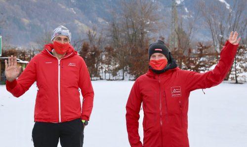 """Die beiden Sicherheitsbeauftragten Josef Manahl-Tagwerker (r.) und Markus Dessler-Jenny sind mit dem Ablauf der herausfordernden Wintersaison sehr zufrieden und planen bereits für einen """"sicheren Sommer"""".MT"""