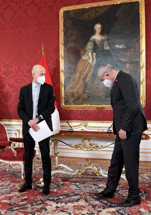 MartinKocherwurde am Montag von Bundespräsident Alexander Van der Bellen als Arbeitsminister angelobt.APA