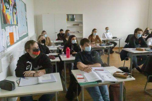 Maskenpflicht an Schulen: Dagegen gibt es Widerstand.VN/Paulitsch