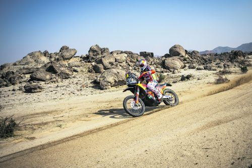 Matthias Walkner legte mit Platz drei bei der Dakar-Rallye einen guten Start hin.gepa
