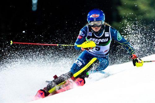 Mikaela Shiffrin geht auf ihren vierten Slalomsieg in Flachau los. ap