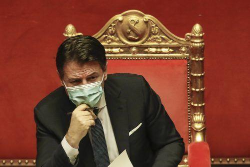 Ministerpräsident Conte sah keine Möglichkeit mehr, den Dialog mit Renzi wieder aufzunehmen. Dessen Italia Viva hatte sich aus der Koalition zurückgezogen. AP