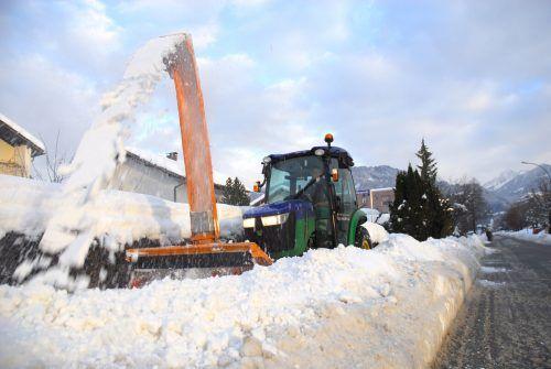 Neben rund 110 Kilometer Straße werden in Rankweil auch 70 Kilometer Gehsteig von Schnee befreit. Marktgemeinde( 2)