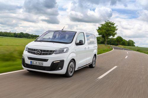 Opel Zafira Life, neue Modellphase: drei Längen, zwei Diesel-Motorisierungen, drei Leistungsstufen, bis zu neun Sitzplätze, Vorsteuerabzugs-Berechtigung.