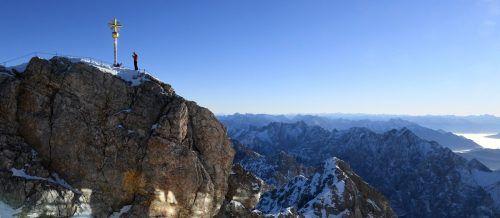 Seit 1900 wird die Temperatur auf der Zugspitze aufgezeichnet. afp