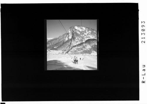 Skilift bei Au in denSechzigerjahren.