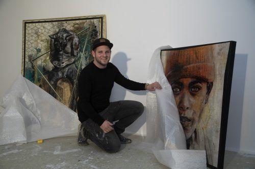 Stefan Finžgar möchte ein attraktives Programm für seine neue Galerie am Schlossgraben auf die Beine stellen.VN/Paulitsch