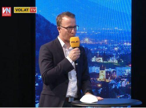 """Tourismus-Landesrat Christian Gantner zu Gast bei """"Vorarlberg live."""""""