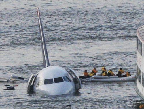 Unvergessenes Bild: Notwasserung im Hudson River. ap