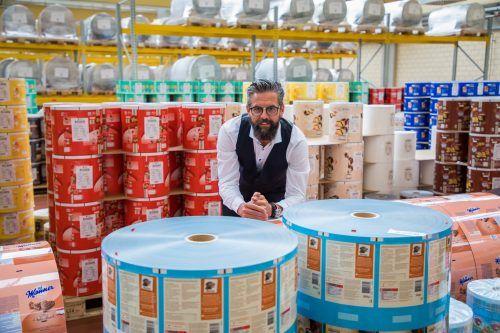 Verpackungsunternehmer Stephan Ratt fordert bei Covid-Maßnahmen künftig mehr Berechenbarkeit. Für 2021 rechnet er mit Wachstum.VN/Steurer