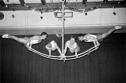 Wolfurter Turnerball im Vereinshaus in den 60er-Jahren.