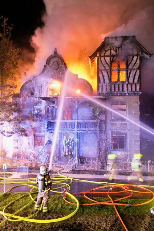 Zu den spektakulärsten Einsätzen gehörte der Brand der Villa Häusle in Rankweil. FEUERWEHR
