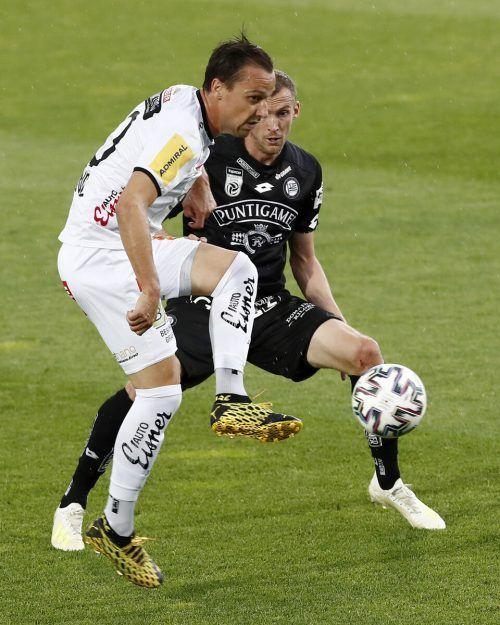 Zum Frühjahrsauftakt gibt es das Duell zwischen dem Wolfsberger AC mit dem Thüringer Michael Liendl und Sturm Graz mit dem Alberschwender Lukas Jäger.apa