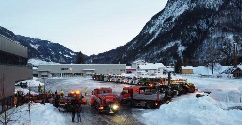 Zur Schneeräumung im Bludenzer Stadtgebiet kam die gesamte Woche über schweres Gerät zum Einsatz. Stadt