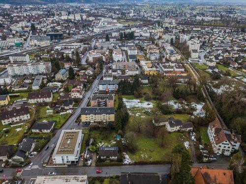 55 Millionen Euro, davon 16,4 Millionen für das Bauland, investiert Swietelsky in das Bauprojekt in Dornbirn-Rohrbach.VN/Steurer