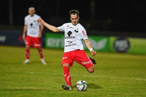 Aaron Kircher zählt beim FC Dornbirn zu den Führungsspielern.gepa