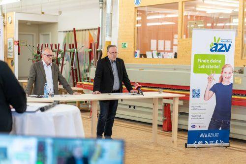 Arbeiterkammer-Direktor Rainer Keckeis und Präsident Hubert Hämmerle..ak