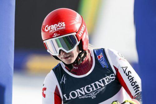 Ariane Rädler: Aus im Kombi-Slalom. gepa