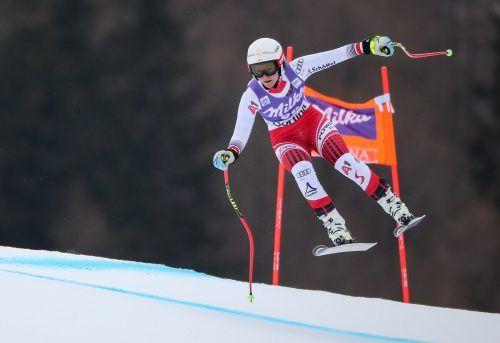 Ariane Rädler kennt die Cortina-Piste, war 2019 im Weltcup in der Abfahrt und im Super-G am Start. GEPA