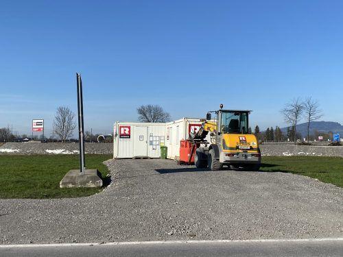 Auch am Anschluss Rheintal Mitte wird bereits fleißig gearbeitet. VN/Rauch