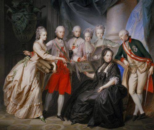 Auch Fügers Bild von Maria Theresia wird von KUB-Chef Trummer erläutert. kub