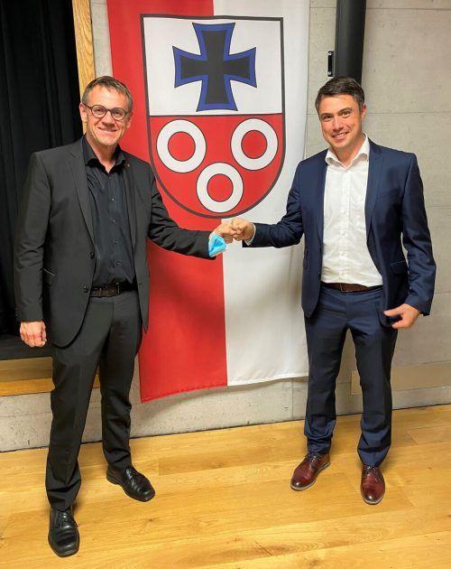 Auf gute Zusammenarbeit: Christoph Thoma und Matthias Schrottenbaum.