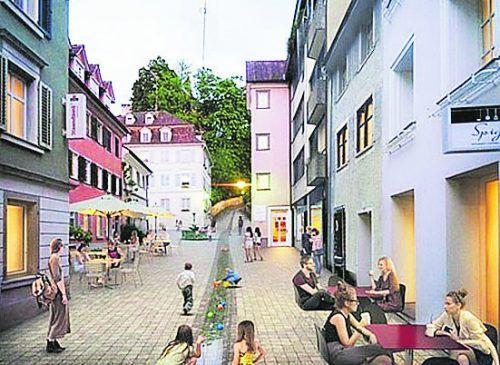 Bei der Quartiersentwicklung Leutbühel steht der zweite Abschnitt mit Leutbühel und Maurachgasse an. Rendering/Architekten Wimmer-Armellini