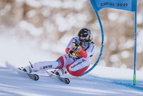 Beim 23. WM-Rennen hat es mit dem Titel geklappt: Lara Gut-Behrami wird Weltmeisterin im Super-G.apa