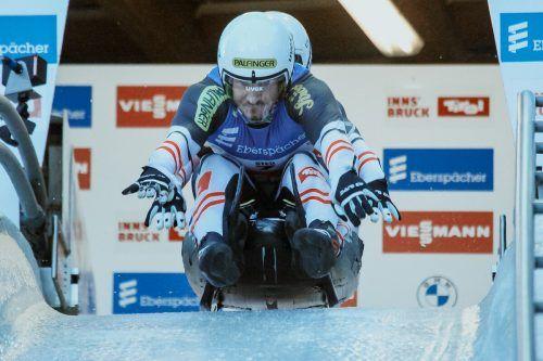 Bereits ein sechster Rang würde Thomas Steu und Lorenz Koller zum Gesamterfolg im olympischen Doppelsitzer reichen. FIL