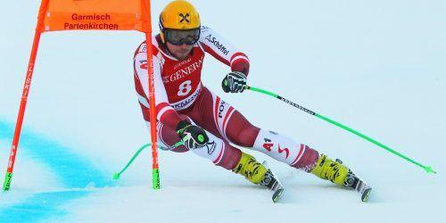 Bestzeit im einzigen Garmisch-Training: Max Franz.gepa