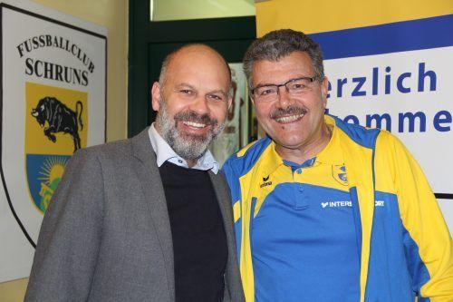 Bürgermeister Jürgen Kuster und FC-Obmann Christian Engstler.VN-Archiv