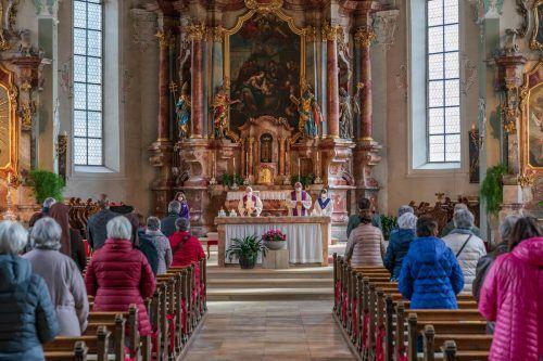 Das Aschenritual fand in St. Gallus statt.