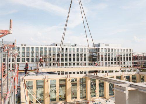 Das Holzhybrid-System, das vom Dornbirner Unternehmen Cree entwickelt wurde, ist international am Expandieren. FA/Meier