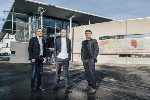 Das Team der neuen Vermarktungsgesellschaft Russmedia Impact: Markus Kirschner, Georg Burtscher und Patrick Fleisch. Sams