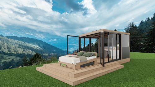 Der Biosphärenpark Großes Walsertal wird im Sommer mit einem neuen Freiluft-Schlaferlebnis aufgewertet – der DreamAlive Lodge. ARB