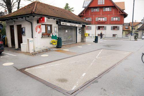 Der ehemalige Kiosk an der alten Harder Brückenwaage wird wahrscheinlich Ende des Monats zu einer Kaffeerösterei. ajk