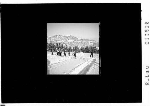 Der Skihang bei Buch mit Blick zum Hirschberg.
