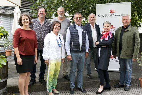 Der Vorstand von Slow Food Vorarlberg um Präsident Helmut Khüny sieht die Coronakrise als Chance.Slowfood/D. Mathis