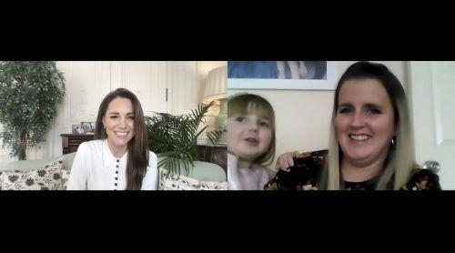 Die dreijährige Isla erklärte in einem Videotelefonat mit Herzogin Kate, dass sie heute eine Prinzessin sei. AP