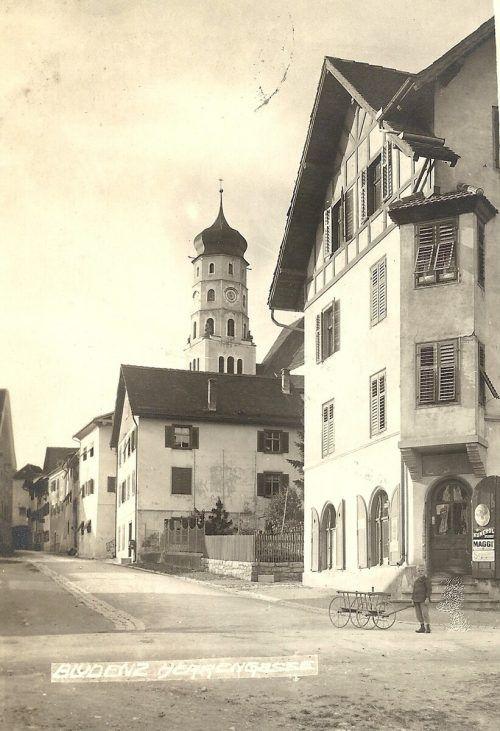 Die Herrengasse mit Blick Richtung St.-Laurentius-Kirche.Sammlung Bonner