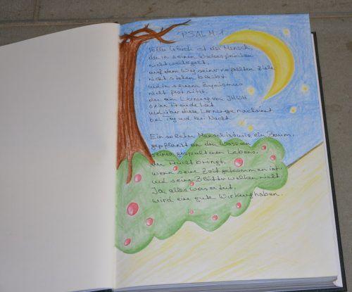 Die Psalmen in dem Buch sind einzigartig gestaltet.