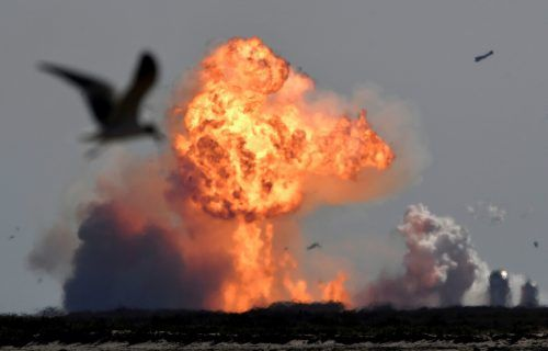 Die SpaceX-Rakete ist kurz nach dem Start explodiert. Reuters